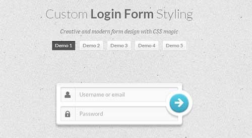 Custom Login Form Styling