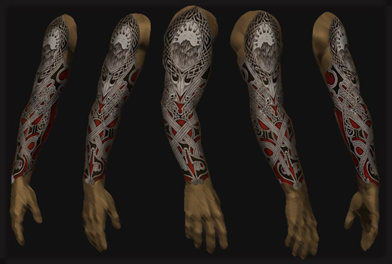 13. Digitally Arm FULL-SLEEVE TATTOO Design