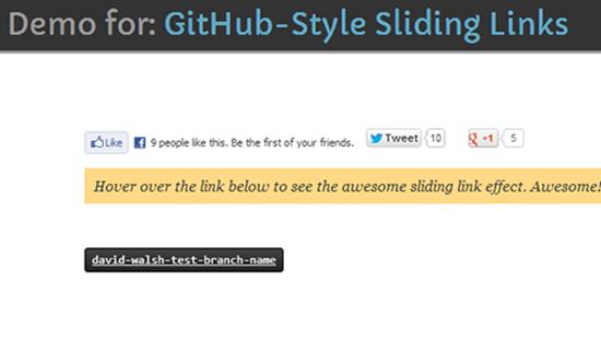 Github - Style Sliding Links