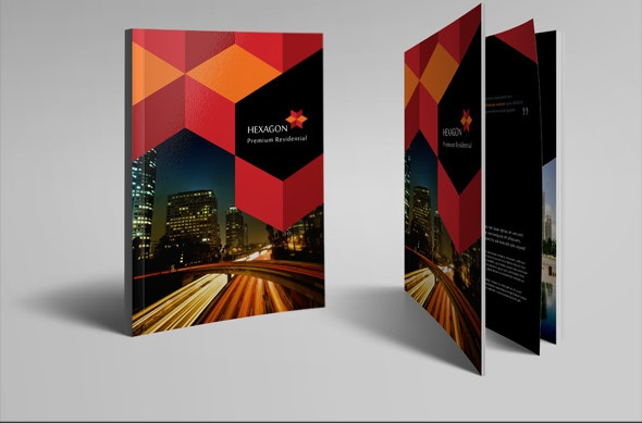 Hexagon Brochure Template