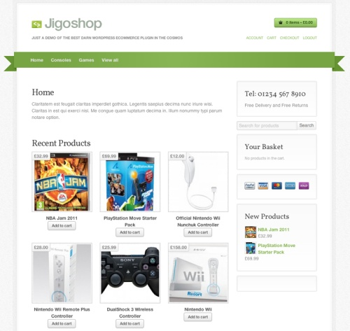 Jigoshop WordPress E-Commerce Plugin