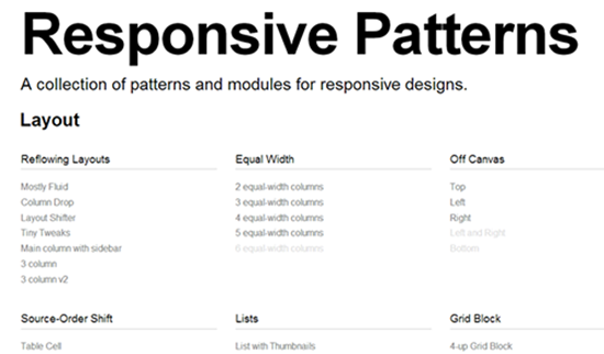 Responsive Patterns