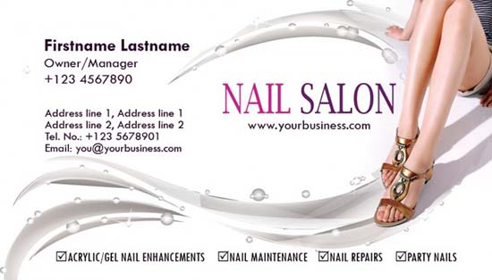 Salon Business Card Templates