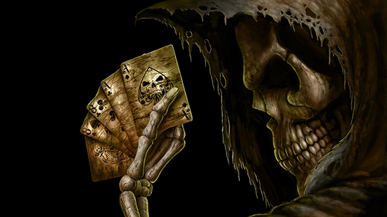 This Particular Background Shows You Are Very Handy With Playing Cards And That Have A Dark Side To Too