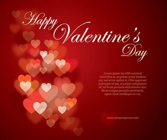 Valentines Flyer Vector Graphic
