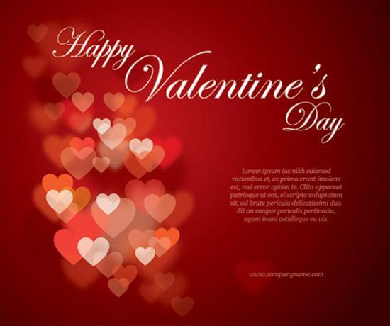Valentines Flyer Vector Graphic