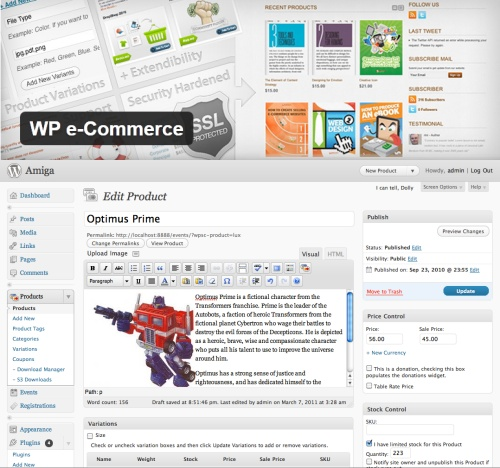 WP E-Commerce Plugin