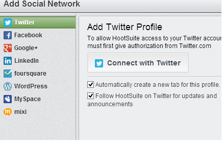 add social networks