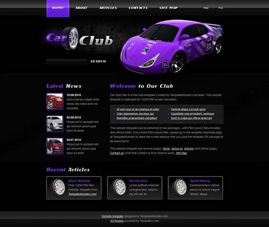 car-club-template