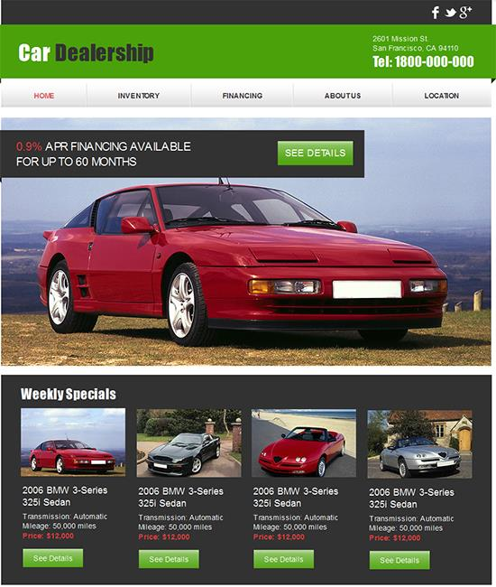 18 free automotive website templates maxwellsz