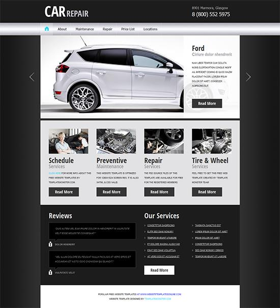 Free Car Repair Template