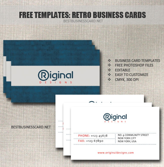 Free PSD Business Card Templates - 2 sided business card template
