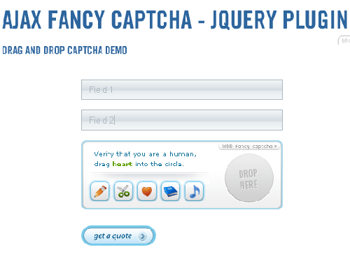 10. Ajax fancy captcha