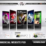 Commercial Website PSD File