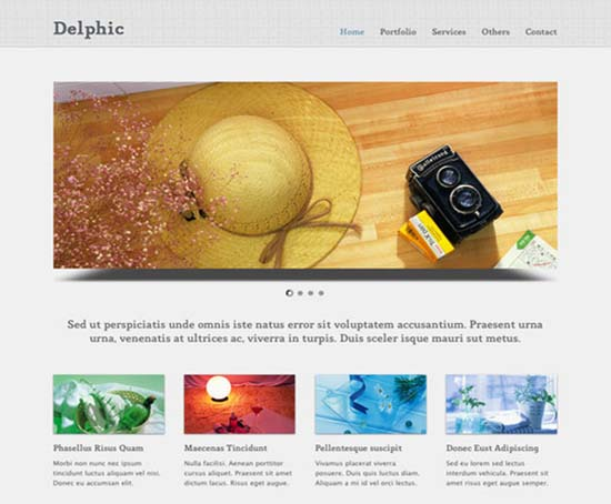 Delphic Website Template
