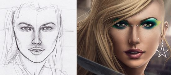 Painting-a-Beautiful-Model-Portrait