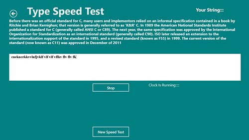Type Speed Test