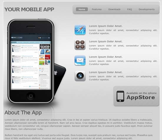 Your Mobile App Template