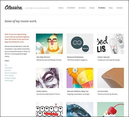 classica-minimalistic-wordpress-themes
