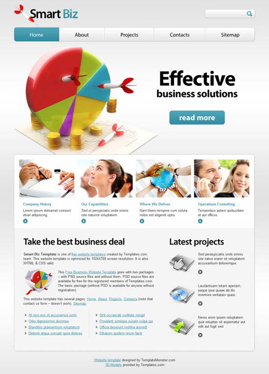 20 free business htmlcss templates free business website template smart biz friedricerecipe Image collections