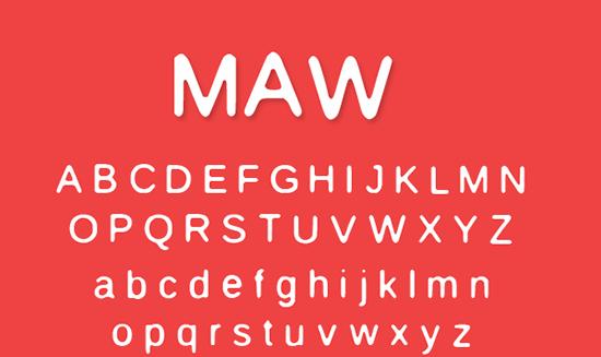 Maw Free Font