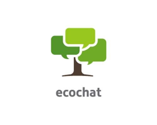1.ecochat-logo-design