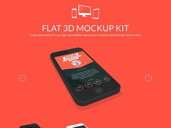 Flat+3D Mockup Kit