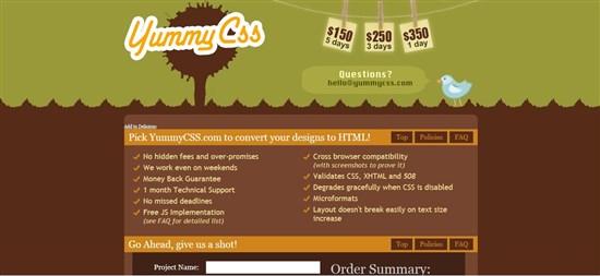 Yummy CSS