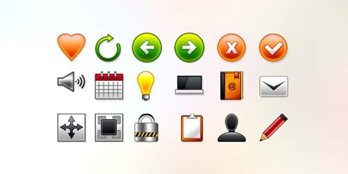 18 vector web icons (PSD & PNG)