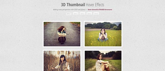 4. 3D Thumbnail Hover Effect