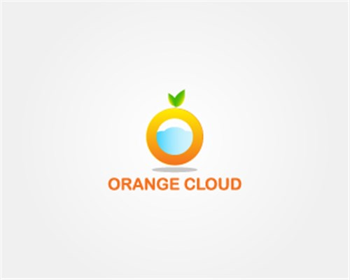 5.Orange Cloud-logo-design
