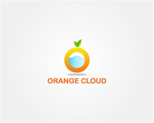 5.Orange Cloud-logo-design