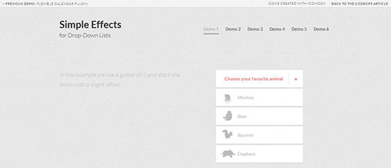 7. Simple Effects for Dropdown Lists