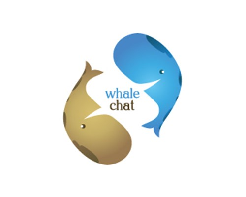 8.Whale Chat-design-logo