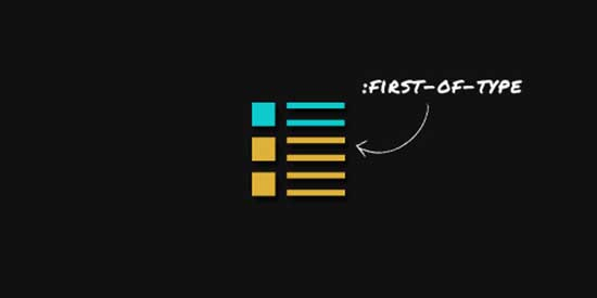 CSS3 First-Of-Type Selector