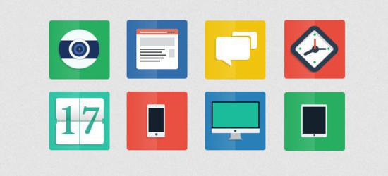 Flat Icons (PSD) by Alberto