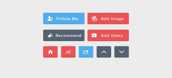 Flat UI Buttons (PSD) by Alex Vanderzon