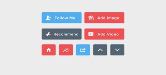 Flat UI Buttons (PSD) by Alex Vanderzon