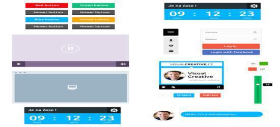 Flat UI Kit (PSD) by VisualCreative