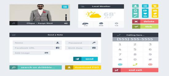Flat UI (PSD) by Andy Law