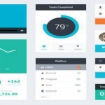 Flat Widget UI Kit (PSD) by Riki Tanone