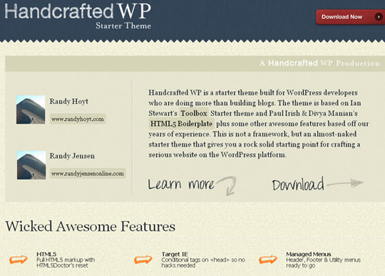 Handcrafted WP Starter Theme