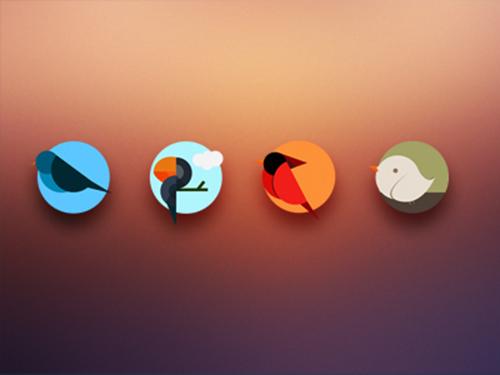 Icons birds