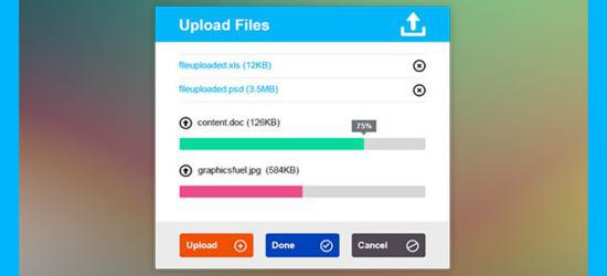 Metro Upload File Interface (PSD) by GraphicsFuel