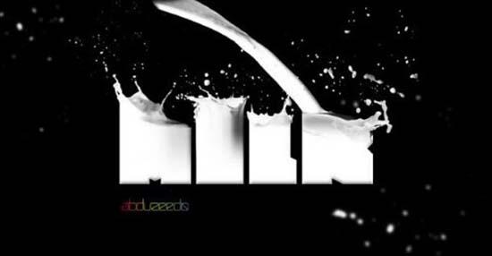 Milk-Typography-Effect