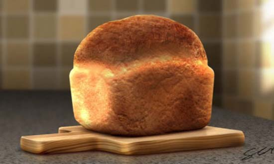 Realistic Loaf of Bread