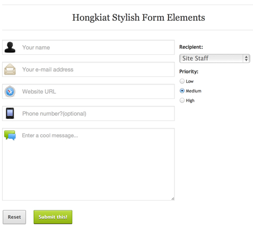 Responsive Form with HTML5 CSS3