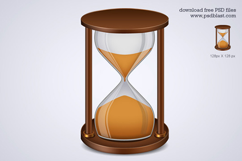 Sand Timer Icon, Hourglass Icon