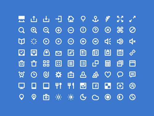 Shades of White Icons