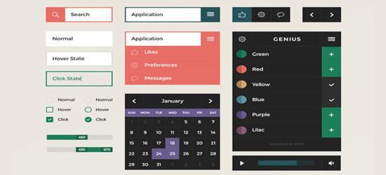 Square UI (PSD) by DesignModo